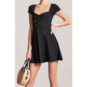 NWT | F21 tie front mini dress